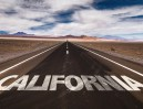 California written on desert road