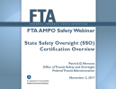 FTA AMPO Safety Webinar